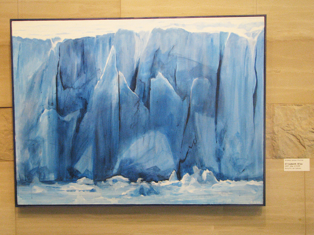 """Elizabeth Blau's contribution to the """"Science Versus Fiction"""" art show is """"Off the Cliff."""" The show is on display from 7 a.m. to 5:30 p.m Monday through Thursday through Sept. 22 at Las Vegas City ..."""