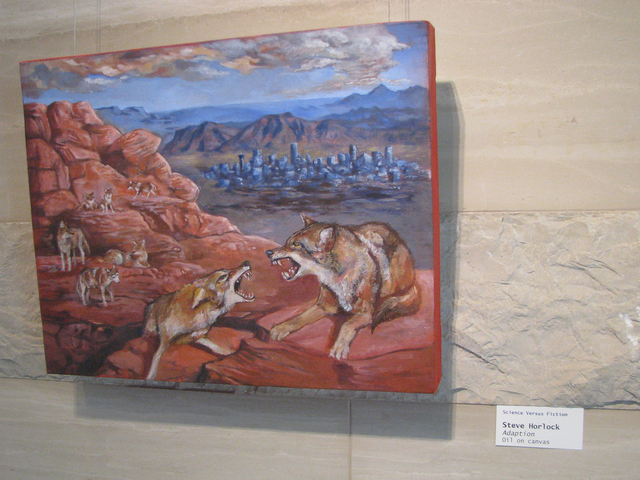 """Steve Horlock's contribution to the """"Science Versus Fiction"""" art show is """"Adaption."""" The show is on display from 7 a.m. to 5:30 p.m Monday through Thursday through Sept. 22 at Las Vegas City Hall, ..."""