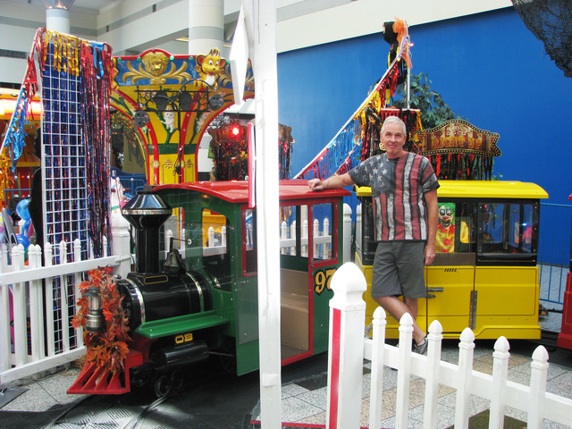 Mark Miller, co-owner of Clown 'N Around, has operated the children's amusment business for nine year at the Boulevard Mall, 3825 S. Maryland Parkway. The mall is set to add an aquarium and a luxu ...