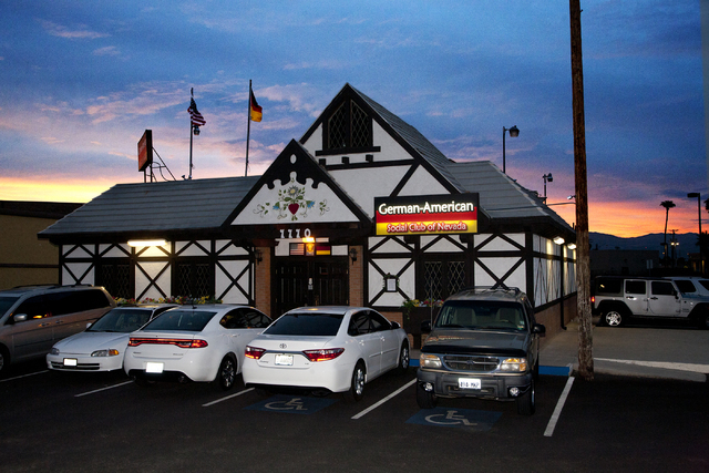 An exterior photo of the German American Social Club of Nevada is seen at 1110 East Lake Mead Blvd., in Las Vegas on Tuesday Sept. 20, 2016. Jeferson Applegate/Las Vegas Review-Journal
