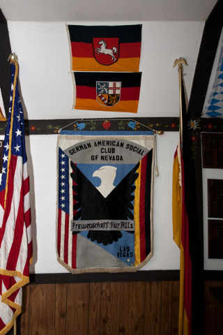 Flags and banners are displayed at the German American Social Club of Nevada at 1110 East Lake Mead Blvd., in Las Vegas on Tuesday Sept. 20, 2016. Jeferson Applegate/Las Vegas Review-Journal