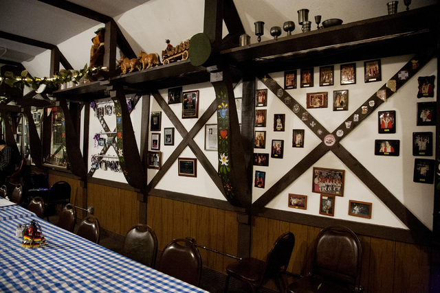 Wall decorations are seen at the German American Social Club of Nevada at 1110 East Lake Mead Blvd., in Las Vegas on Tuesday Sept. 20, 2016. Jeferson Applegate/Las Vegas Review-Journal