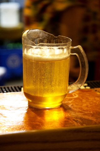 A cold pitcher of beer sits on the bar at the German American Social Club of Nevada at 1110 East Lake Mead Blvd., in Las Vegas on Tuesday Sept. 20, 2016. Jeferson Applegate/Las Vegas Review-Journal