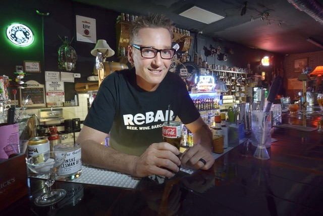 Co-owner Derek Stonebarger is shown at ReBar at 1225 S. Main St. in Las Vegas on Saturday, Aug. 27, 2016. Bill Hughes/Las Vegas Review-Journal