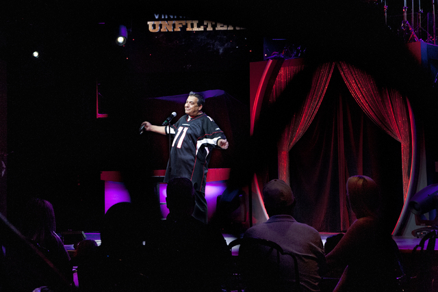 Stand-up comedian Vinnie Favorito performs at his new venue at Westgate, 3000 Paradise Road in Las Vegas, Sept. 8. Jeferson Applegate/View