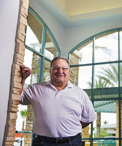 USFantasy Sports President Vic Salerno, shown at his Las Vegas office Tuesday, June 21, 2016, received initial approval to allow bettors to make fantasy sports wagers using a platform similar to p ...