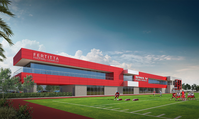 The Fertitta family has pledged $10 million to the construction of a state of the art football training facility for UNLV, the university announced Tuesday. (UNLV)