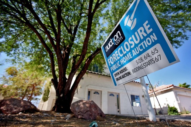 A foreclosed home in Las Vegas, June 18, 2011. (Jeff Scheid/Las Vegas Review-Journal)