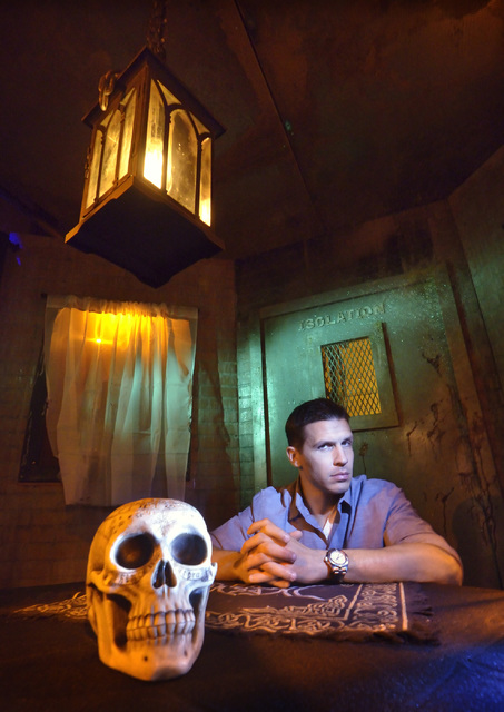Jason Egan, owner and creator of Fright Dome, is shown at the haunted house in the Aventuredome at the Circus Circus hotel-casino at 2880 S. Las Vegas Blvd. in Las Vegas on Friday, Sept. 23, 2016. ...