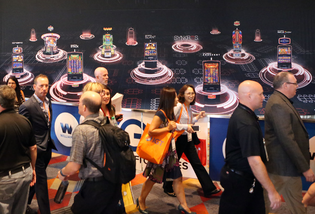 Expo-goers arrive at the Global Gaming Expo, Tuesday, Sept. 27, 2016, at the Sands Expo and Convention Center in Las Vegas. Bizuayehu Tesfaye/Las Vegas Review-Journal Follow @bizutesfaye
