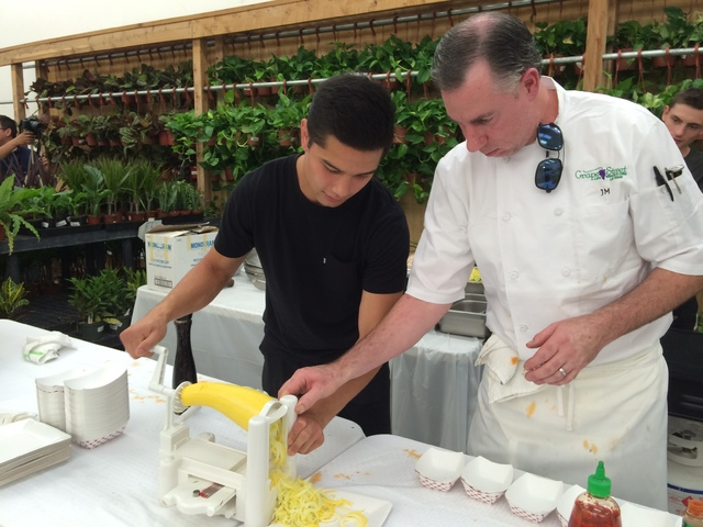 How About Star Nursery John Endo Works The Paderno Spiralizer As Mckibben Owner And Chef Of Grape Street