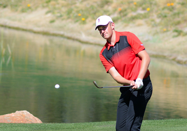 UNLV sophomore Harry Hall, shown last season, tied for seventh individually to lead the Rebels to a sixth-place finish in the 15-team Olympia Fields/Fighting Illini Invitational. (UNLV courtesy photo)