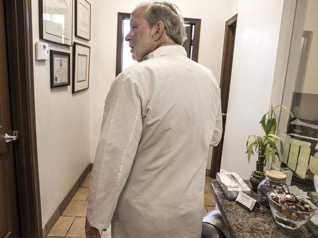 Dr James Gabroy walks the hallway of is office at 1535 W. Warm Springs Road in Henderson on Wednesday, Aug. 31, 2016.  (Jeff Scheid/Las Vegas Review-Journal) Follow @jeffscheid