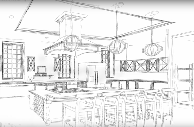 A rendering with a New Orleans theme from the final project of an undergraduate architecture student at UNLV. The plans for the communal living home are based on neuroscience principles for the ma ...