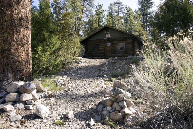 Hidden Forest Cabin in the Sheep Mountains north of Las Vegas is shown Tuesday, May 12, 2009. The Fish and Wildlife Service will repair and restore the remote, century-old log cabin. K.M. Cannon/L ...