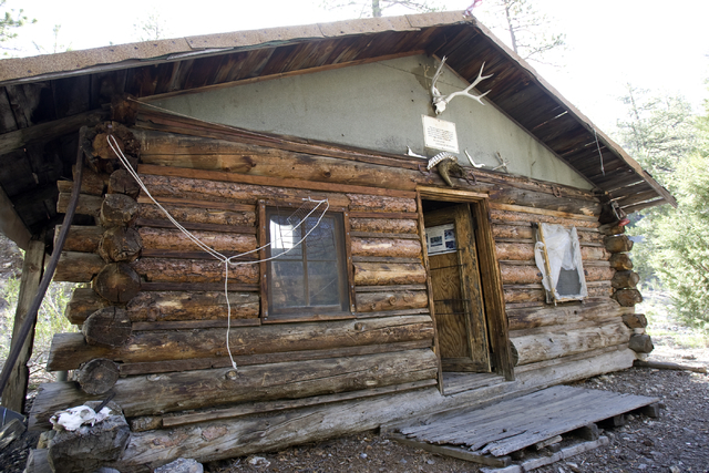 The Hidden Forest Cabin in the Sheep Mountains north of Las Vegas is shown Tuesday, May 12, 2009. The Fish and Wildlife Service will repair and restore the remote, century-old log cabin. K.M. Cann ...