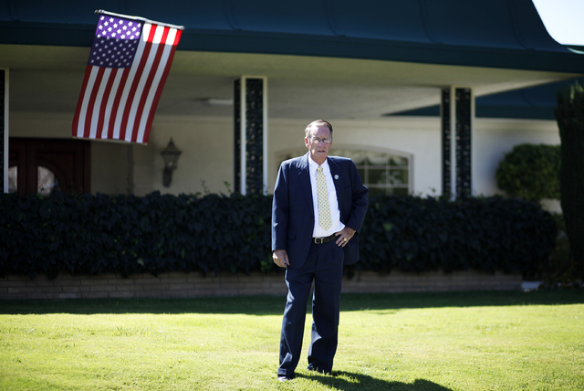 Jonathan Friedrich stands in from of his home in Las Vegas on Sept. 19, 2013. Friedrich is a commissioner on the Commission for Common-Interest Communities and Condominium Hotels. (Las Vegas Revie ...
