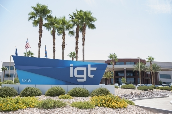 IGT corporate headquarters is seen at 6355 S. Buffalo Drive in Las Vegas on Tuesday, Aug. 18, 2015. (Las Vegas Review-Journal file photo)