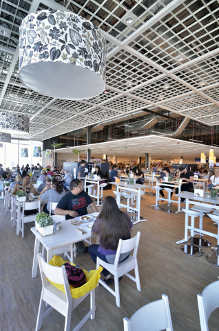 The dining area in the IKEA Restaurant is shown at 6500 IKEA Way in Las Vegas on Saturday, Sept. 3, 2016. Bill Hughes/Las Vegas Review-Journal
