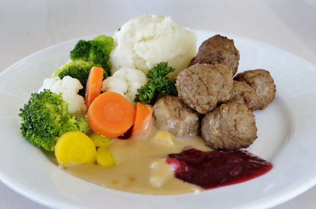 The Swedish meatball plate is shown in the IKEA Restaurant at 6500 IKEA Way in Las Vegas on Saturday, Sept. 3, 2016. Bill Hughes/Las Vegas Review-Journal