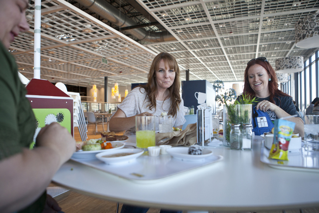 Kerri Miller, from left, Melissa Anderson and Amber Hagfeldt eat at the IKEA store in Las Vegas on Wednesday, Sept. 7, 2016. Loren Townsley/Las Vegas Review-Journal Follow @lorentownsley