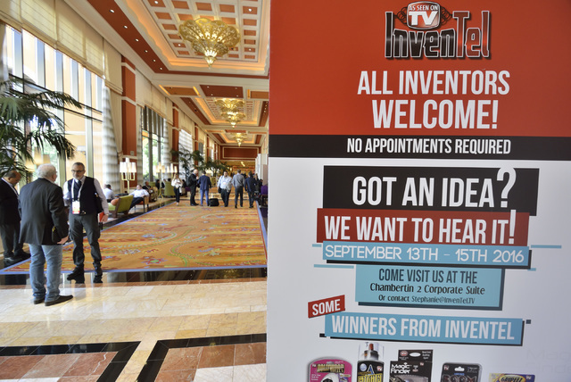 A sign for one of the exhibitors at the 2016 Electronic Retailing Association D2C Convention is shown near the convention entrance in the Wynn Las Vegas on Wednesday, Sept. 14, 2016. (Bill Hughes/ ...