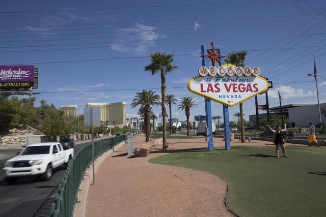 A woman takes a photo in front of the Welcome to Fabulous Las Vegas sign on Wednesday, Aug. 31, 2016, in Las Vegas. Erik Verduzco/Las Vegas Review-Journal Follow @Erik_Verduzco