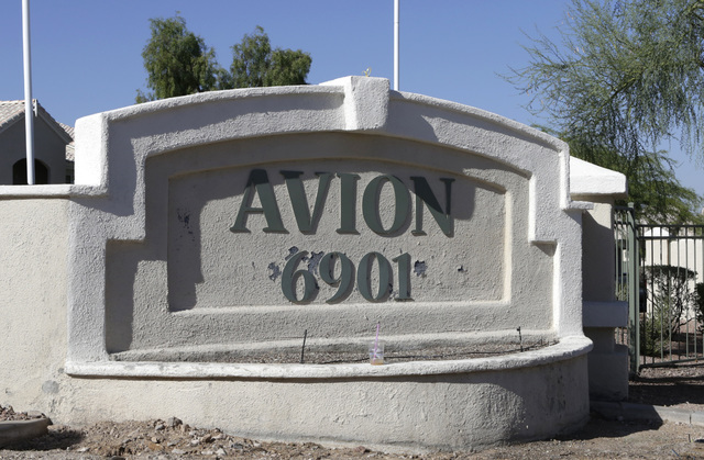 A man was found with multiple gunshot wounds inside an apartment at the Avion apartment complex, 6901 E. Lake Mead Blvd., on Tuesday, Aug. 9, 2016. (Bizuayehu Tesfaye/Las Vegas Review-Journal) Fol ...