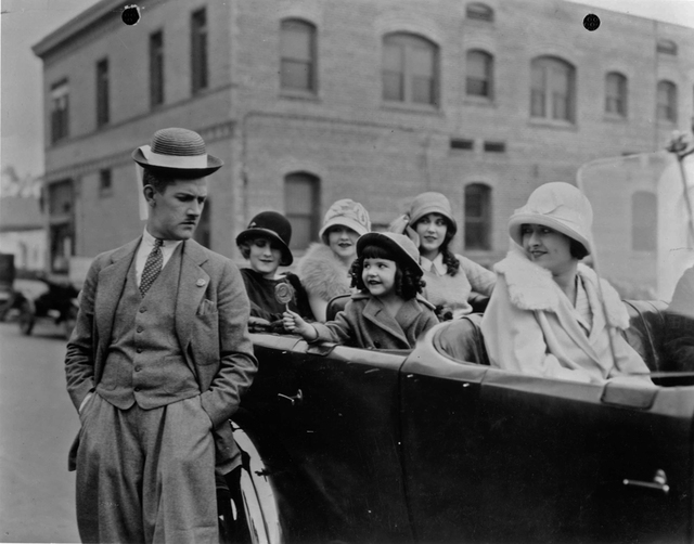 Comedian Charley Chase, left, shares a scene with little Lassie Lou Ahern, center, the subject of a Nevada State College documentary and restoration effort. (Courtesy Jeffrey Crouse)