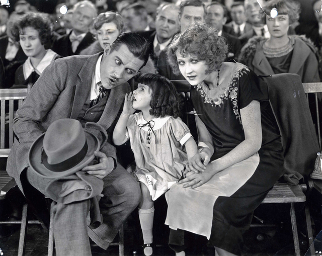 """""""Sweet Daddy"""" -- alias Charley Chase, left -- shares the screen with Lassie Lou Ahern, center, in a 1924 comedy short. Ahern, now 96, is the subject of a Nevada State College-produced documentary. ..."""