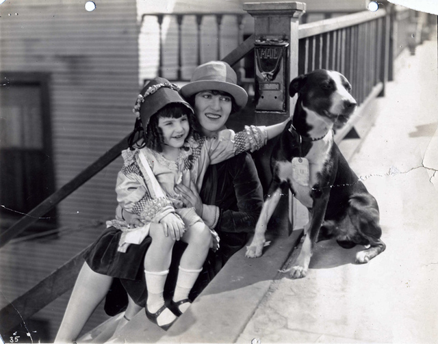 "Lassie Lou Ahern, left, and Helen Holmes made two movies together: 1925's ""Webs of Steel"" and ""The Lost Express."" Ahern, now 96, is one of the last surviving performers from the silent era. (Court ..."