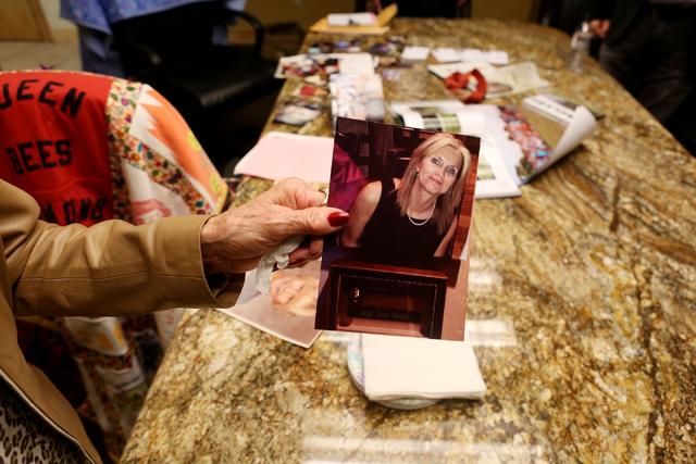 Avis Winters holds the most recent photo of her daughter, the late Susan Winters, at the law firm of Anthony Sgro on Wednesday, Sept. 7, 2016, in Las Vegas. Elizabeth Page Brumley/Las Vegas Review ...