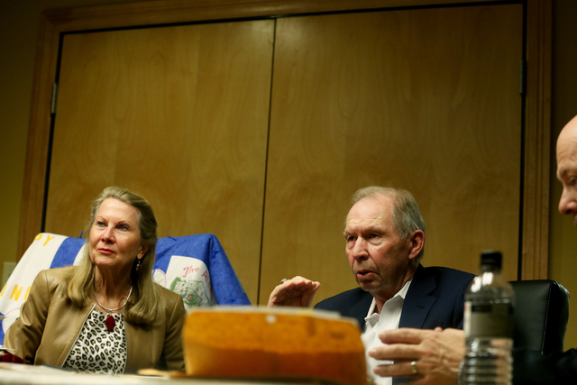 Avis Winters, left, and Danny Winters, the parents of Susan Winters, discuss the events surrounding their daughter's death during a Sept. 7, 2016, interview at the law firm of Anthony Sgro in Las  ...