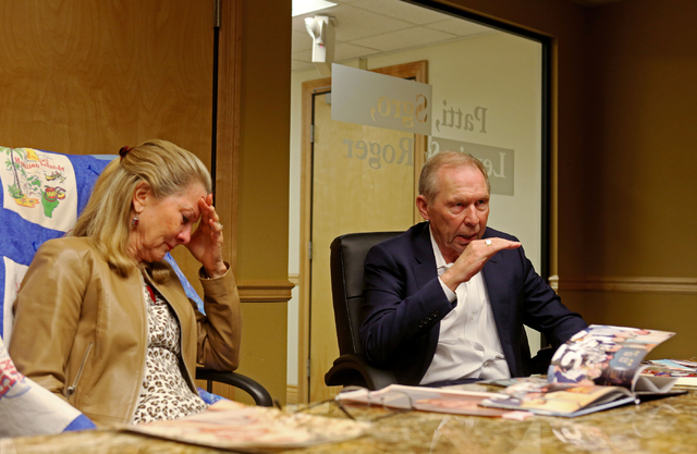 Avis Winters, left, and Danny Winters, the parents of Susan Winters, discuss the events surrounding their daughter's death during an interview at the law firm of Anthony Sgro, Wednesday, Sept. 7,  ...