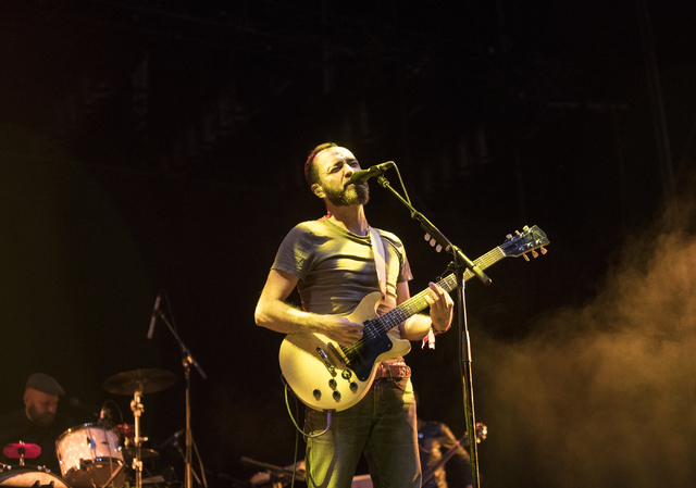 The Shins singer James Mercer performs during the fourth annual Life is Beautiful music and art festival in downtown Las Vegas on Friday, Sept. 23, 2016. Loren Townsley/Las Vegas Review-Journal Fo ...