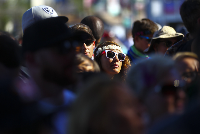 Attendees watch Highly Suspect perform during the Life is Beautiful music and arts festival in downtown Las Vegas on Friday, Sept. 23, 2016. Chase Stevens/Las Vegas Review-Journal Follow @cssteven ...