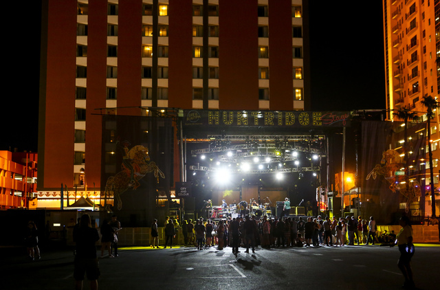 The Huntridge stage is shown during the Life is Beautiful music and arts festival in downtown Las Vegas on Friday, Sept. 23, 2016. Chase Stevens/Las Vegas Review-Journal Follow @csstevensphoto