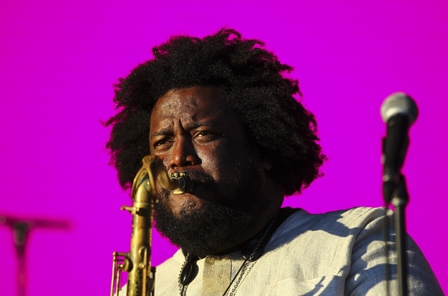 Kamasi Washington performs during the Life is Beautiful music and arts festival in downtown Las Vegas on Friday, Sept. 23, 2016. Chase Stevens/Las Vegas Review-Journal Follow @csstevensphoto