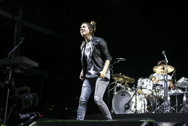Tegan Quin of Tegan and Sara performs during the Life is Beautiful music and arts festival in downtown Las Vegas on Friday, Sept. 23, 2016. Chase Stevens/Las Vegas Review-Journal Follow @csstevens ...