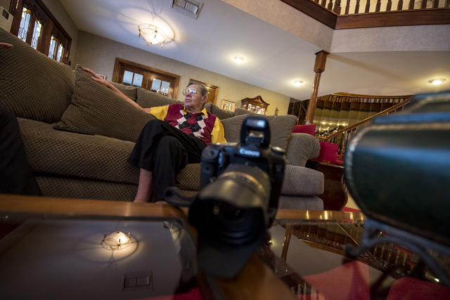 Jerry Lewis is interviewed in his Las Vegas home Friday, Sept. 9, 2016. Joshua Dahl/Las Vegas Review-Journal