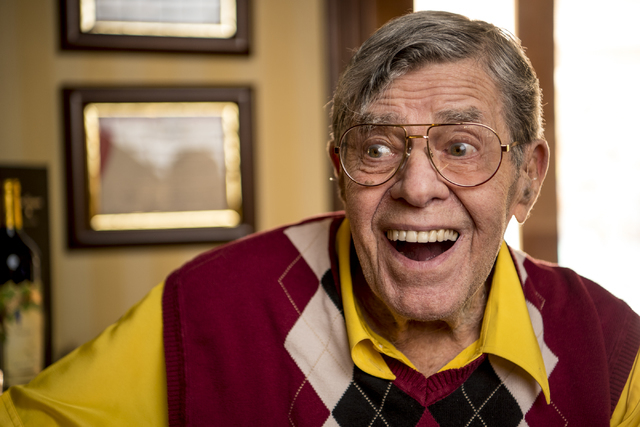 Jerry Lewis poses for a photo in his Las Vegas home Friday, Sept. 9, 2016. Joshua Dahl/Las Vegas Review-Journal