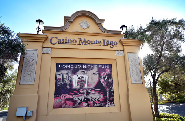 The marque sign for the now closed Casino Monte Lago at Lake Las Vegas is seen still advertising for customers Friday, Sept. 2, 2016, in Henderson. David Becker/Las Vegas Review-Journal Follow @da ...