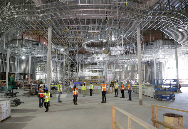 The gaming area of the Lucky Dragon hotel-casino, currently under construction, is shown during a tour at 300 W. Sahara Ave., on Thursday, July 7, 2016. Bizuayehu Tesfaye/Las Vegas Review-Journal  ...