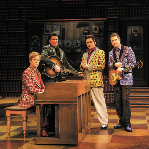 "The cast of ""Million Dollar Quartet"" will peform at this weekend's Life Is Beautiful festival. (Chase Stevens/Las Vegas Review-Journal)"