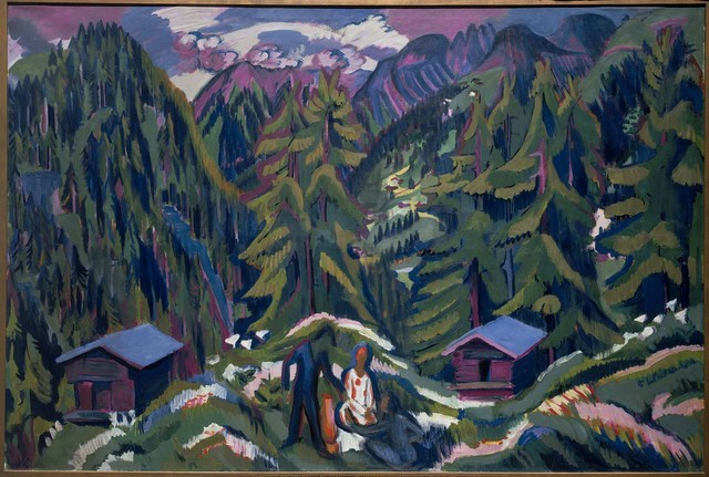 "Modern, graphic elements enrich Ernst Ludwig Kirchner's 1925-26 ""Mountain Landscape from Clavadel,"" part of the ""Town and Country"" exhibit opening Friday at Bellagio's Gallery of Fine Art. COURTES ..."