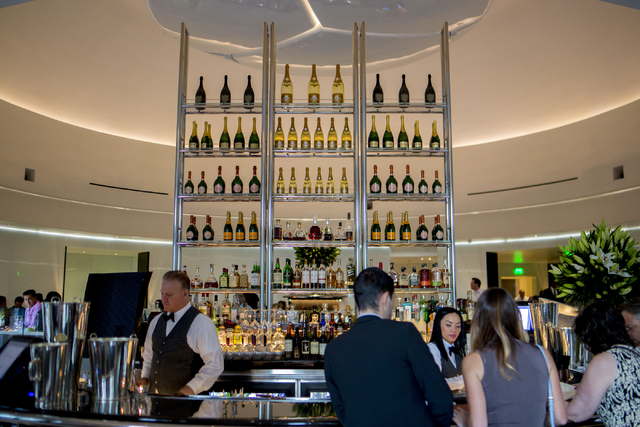 Mr. Chow guests order drinks at the restaurant's bar at Caesars Palace in Las Vegas, Saturday, Sept. 17, 2016. (Elizabeth Page Brumley/Las Vegas Review-Journal Follow @elipagephoto)
