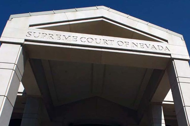 The Nevada Supreme Court building, shown in a 2003 file photo. (Las Vegas Review-Journal file)