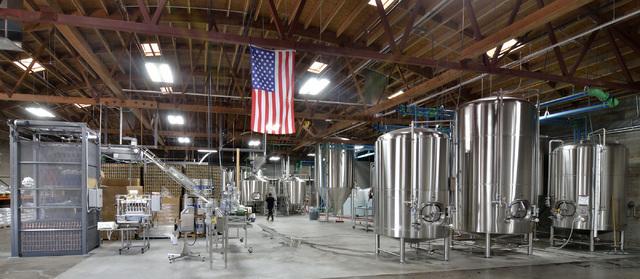 The brewing operation is shown at Tenaya Creek Brewery at 831 W. Bonanza Road on Friday, Sept. 9, 2016. (Bill Hughes/Las Vegas Review-Journal)