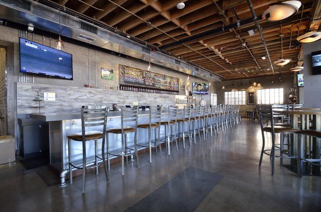 The tasting room is shown at Tenaya Creek Brewery at 831 W. Bonanza Road on Friday, Sept. 9, 2016. (Bill Hughes/Las Vegas Review-Journal)
