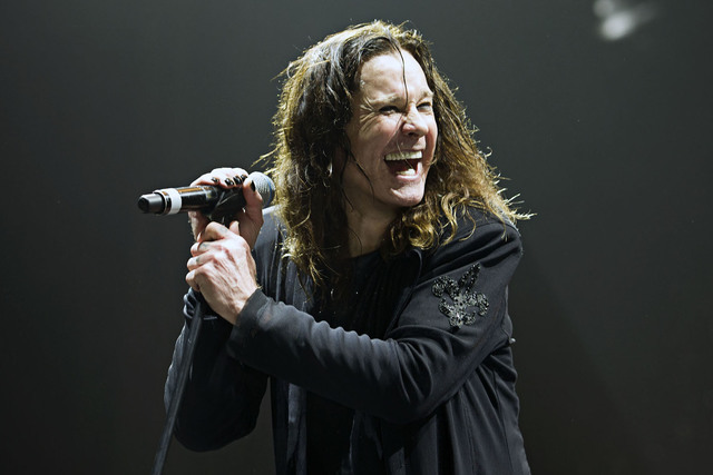 Ozzy Osbourne performs during Black Sabbath's farewell tour. (Ross Halfin)